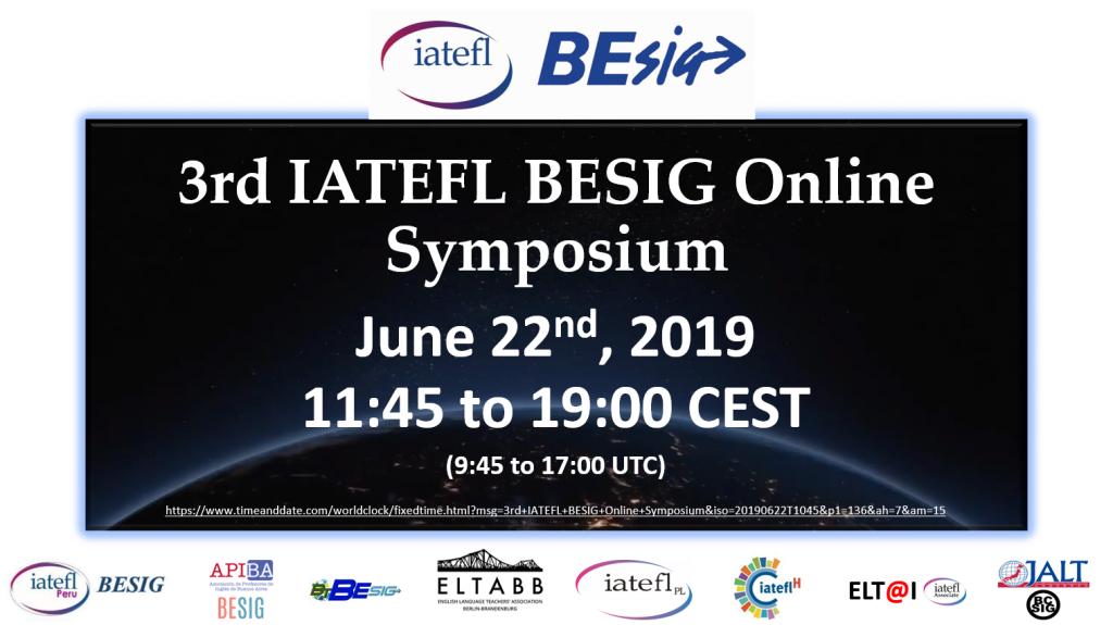 3rd IATEFL BESIG Online Symposium Event Post