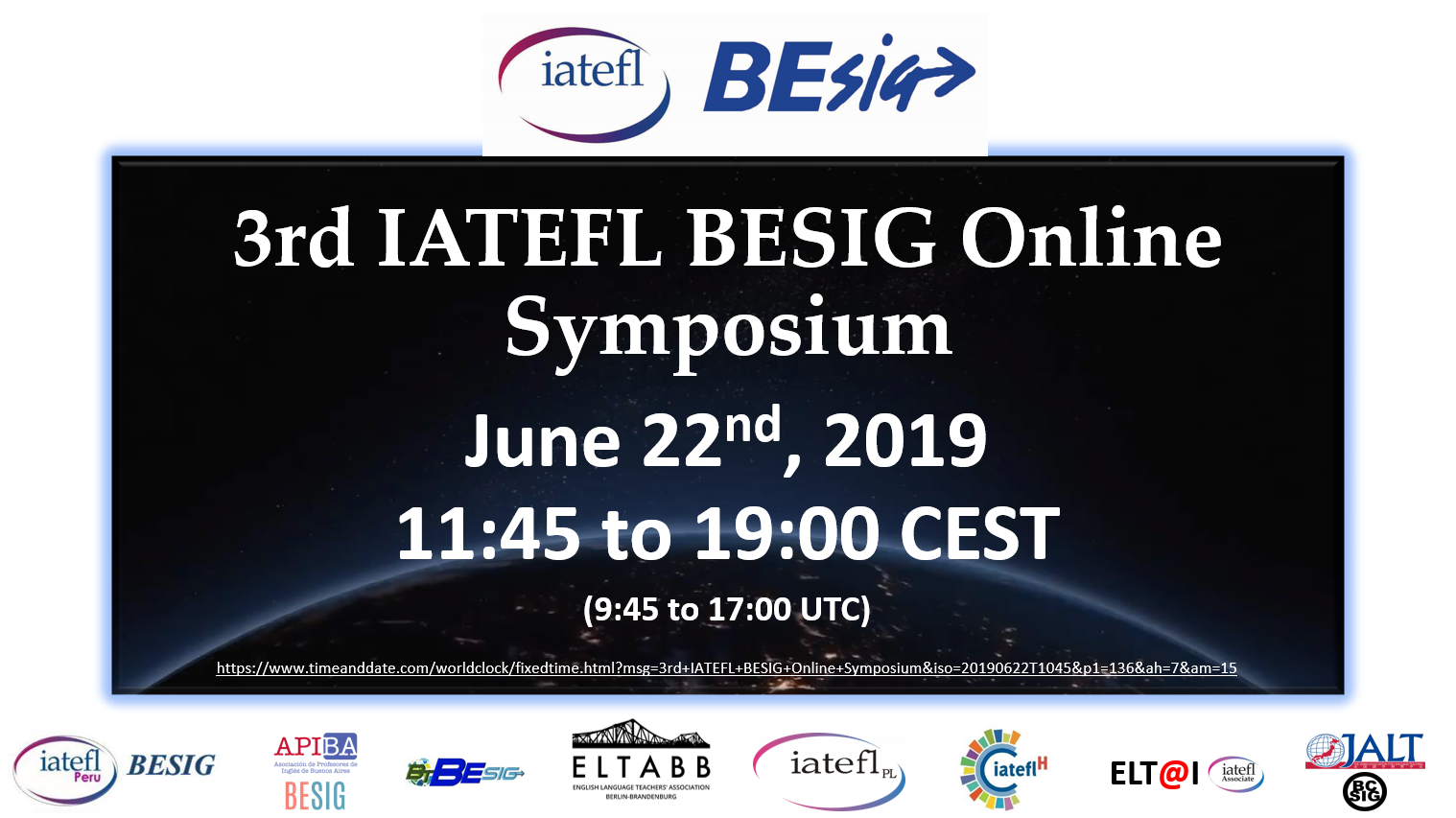 3rd IATEFL BESIG Online Symposium Event Post
