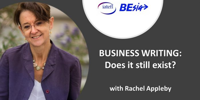 'BUSINESS WRITING: Does It Still Exist?' With Rachel Appleby
