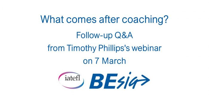 What Comes After Coaching? Follow-up Q&A From Timothy Phillips's Webinar On 7 March